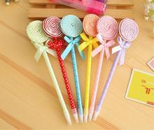 1 Pieces Novelty Lollipop Gift Plastic Multi Color Creative Ballpoint Pen Wholesale Korea Stationary