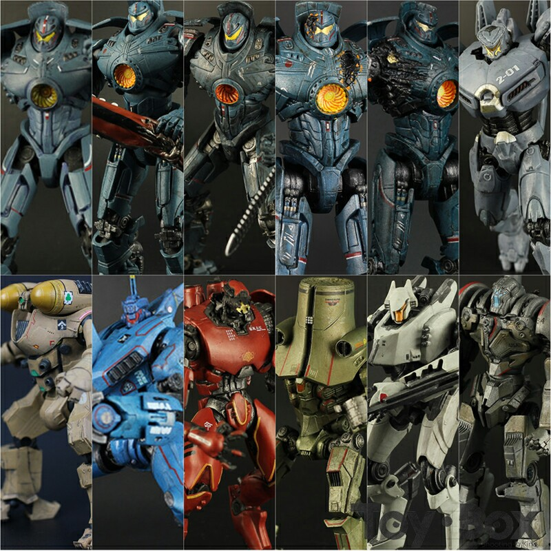 Pacific Rim Anchorage Attack Jaeger Gipsy Danger Striker Eureka Cherno Alpha Crimson Typhoon Coyote Tango Robot Toy Figure Model