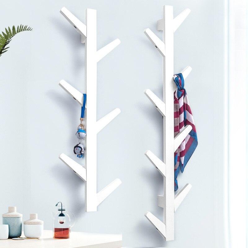Ramas de árbol, perchas de pared, porche, decoración, Perchero de ropa, decoración de pared. C - 3
