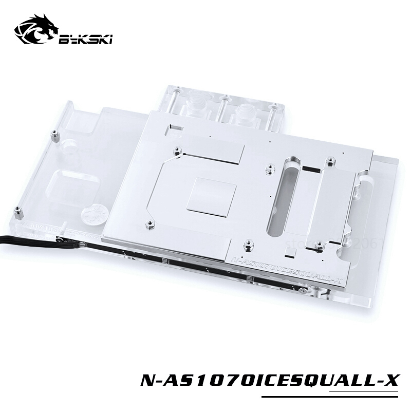 Image 4 - BYKSKI Water Block use for ASUS GTX1070 O8G SI/GAMING /GTX 1060 Dual RGB Light/Full Cover Graphics Card Copper Radiator Block-in Fans & Cooling from Computer & Office