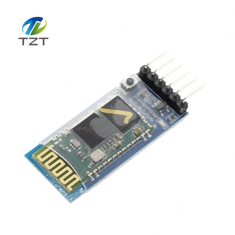10PCS HC05 JY MCU anti reverse, integrated Bluetooth serial pass through module, HC 05 master slave 6pin-in Integrated Circuits from Electronic Components & Supplies