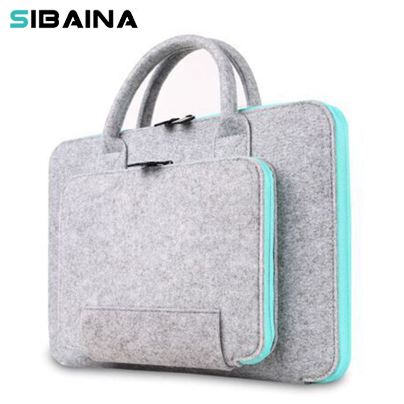 "Wool Felt Universal Notebook Computer Laptop Sleeve Bag 11 12 13 15 15.6 ""för Macbook Air 13.3 15.6 Pro Case Xiaomi Air 13"