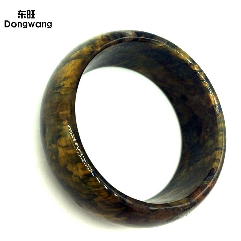 Натуральный Камень Тигр кварцевый браслет подарок, полированный высокое качество, внутренний размер мм 58 мм, внешний размер мм 75 мм