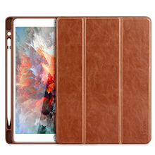 For iPad pro 10.5 Case PU Leather , Benuo 3 Folding Stand Smart Cover For iPad Pro 10.5 Cover 2017 New with Pencil Holder and Auto Sleep and Wake up Function(China)