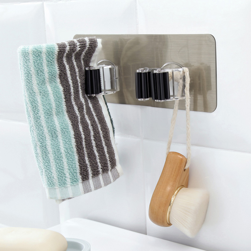 1PC New Wall Mounted Kitchen And Bathroom Wall Broom Holder Use As Hanging Cleaning Tools 13