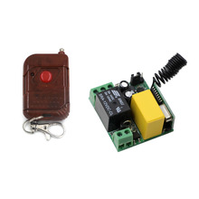 AC 220V 1CH 10A Relay Wireless Remote Control Switch Remote Light Switch System Receiver Transmitter Remote Controller