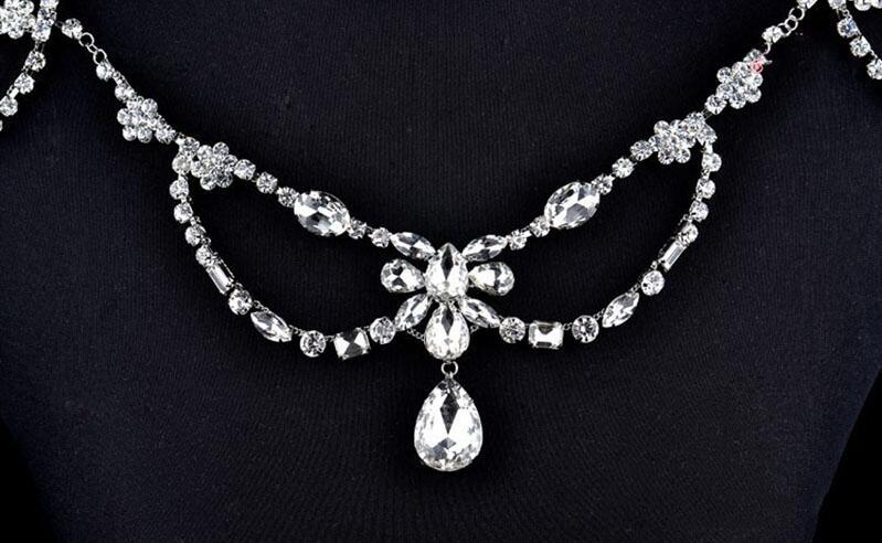 Image 3 - New Fashion Bride Jewelry Vintage shoulder Chains big Necklaces  Pendant Long Necklace Wedding Shoulder strap Bridal AccessoriesChain  Necklaces