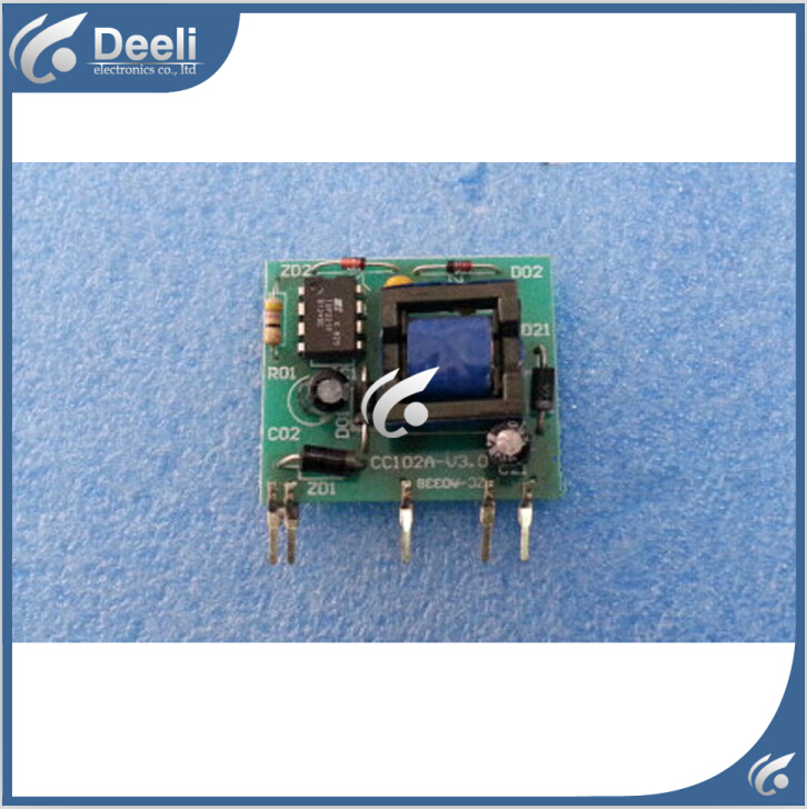 все цены на 95% new good working for Hualing air conditioning motherboard pc board power supply module CC102A - V3.0 5pcs /lot on sale онлайн