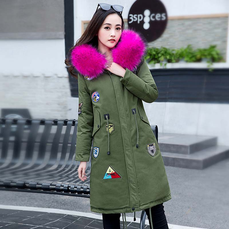 2017 Rushed Full Womens Winter Jackets And Coats Winter New Women 's Cotton In The Long Section Of Hooded Jacket Casual Coat