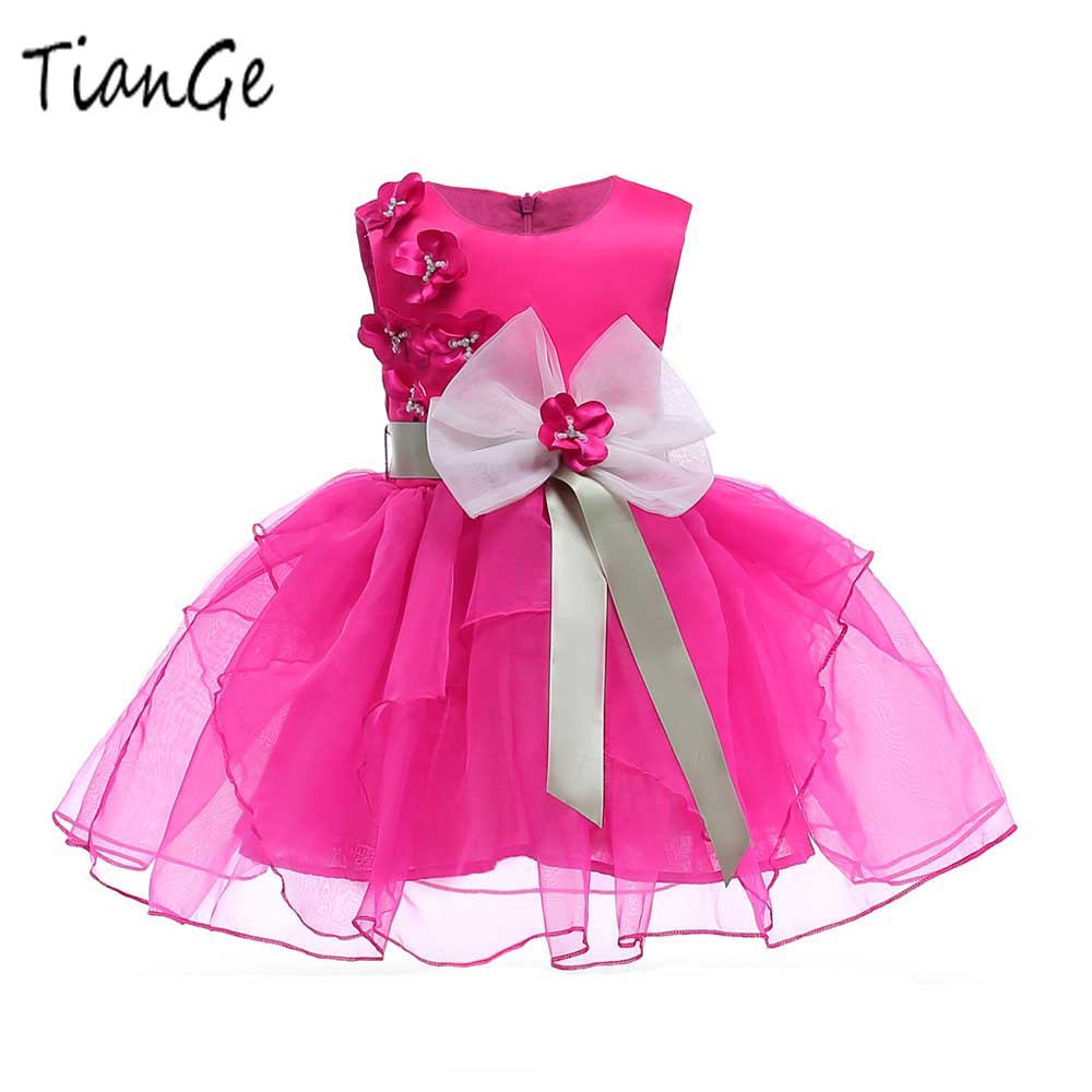 Tiange Girls Dress Summer Baby girl floral Princess party Dresses Children Clothing Wedding tutu Dress Kids Clothes 2-10 Years summer baby girl floral dress children party costume tutu birthday dresses for toddler girl kids clothes vestidos 3 10 years