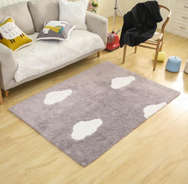 120x170 см хлопковый ковер, Впитывающий Коврик для пола, большой коврик для гостиной, спальни, детской комнаты, облачный мультяшный дизайн