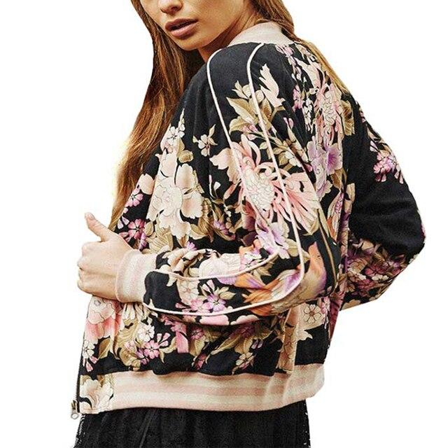 Floral Print Bohemian Bomber Jacket