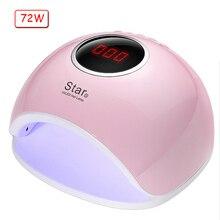 72 Вт/40 Вт двойная УФ-лампа для ногтей светодио дный лампа для маникюра Сушилка для ногтей для всех гелей лак инфракрасный датчик 10/30/60/S 99 s таймер ЖК-дисплей