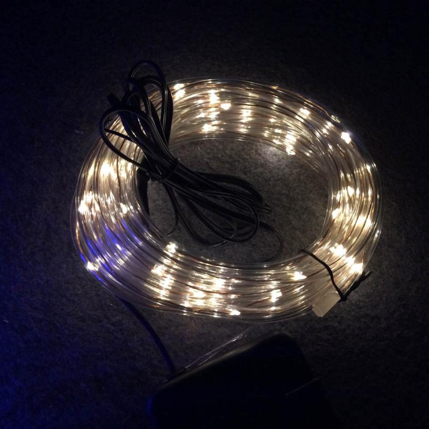 2017 Новый 7 м 50LED Солнечная Радуга свет пробки строка Рождество Свадебная вечеринка украшения вы A830