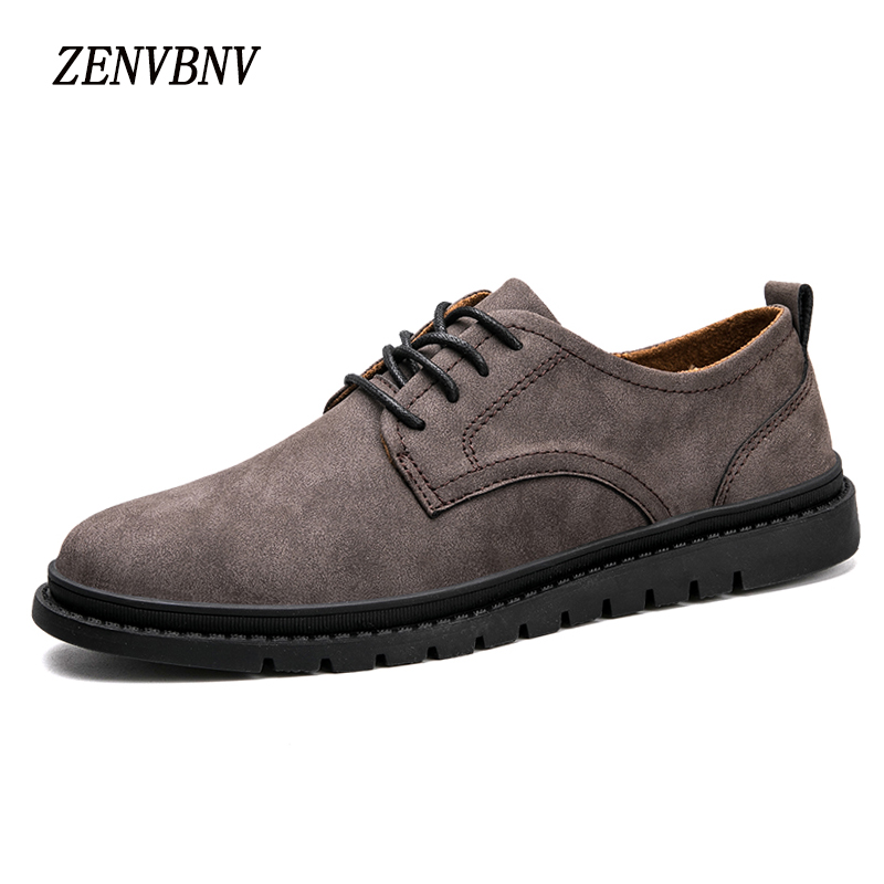 ZENVBNV Men Casual Shoes 2017 New Fashion Comfortable Flat Men Oxford Shoes Lace-up Solid Winter Men Causal Shoes Footwear Hot