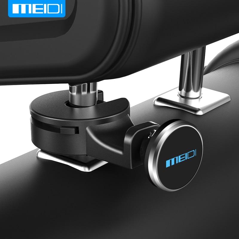 MEIDI Holder For Phone in Car Headrest Mount Magnetic Car Phone Holder Car Fasteners For Phone on the Headrest, Fix on Metal Rod