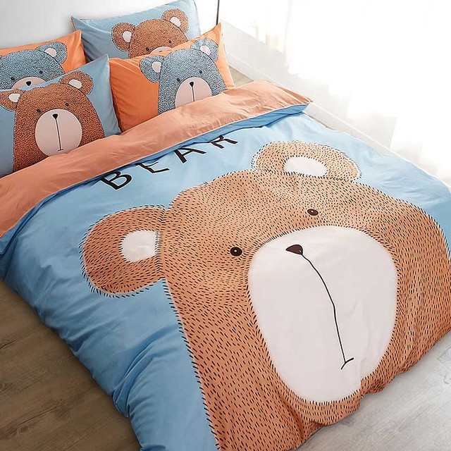 2017 Bear Duck Rabbit Cartoon Bedding Sets Duvet Cover Quilt Bedding Bag Bed  Sheet Pillowcase Pillows