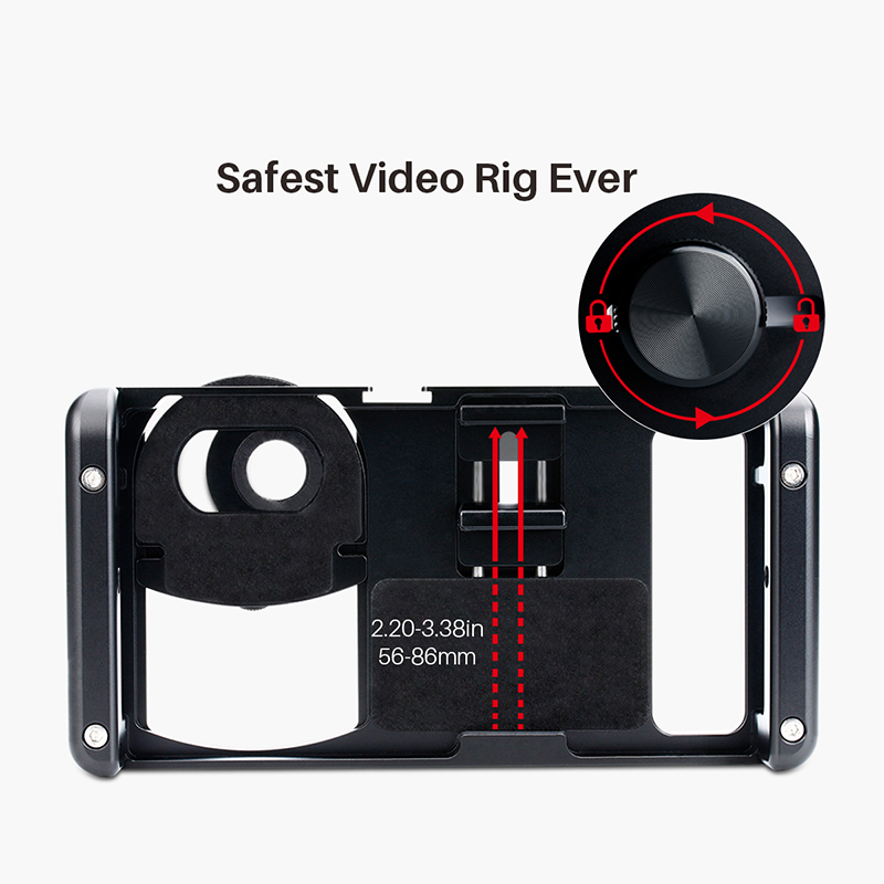 Image 5 - Ulanzi U Rig Metal Handheld Photo Phone Video Rig Gear Vlogging  Rig Stabilizer with Wide Angle Mobile Lens Film Making CasePhoto Studio  Accessories