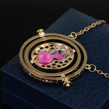 Hermione Granger Rotating Time Turner Necklace Gold/silver color Hourglass for Women/Men