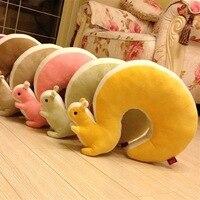 Home Supplies Cute Squirrel U Sharp Massage Pillows Home Office Travel Respite Cushion Neck Pillow Decorative