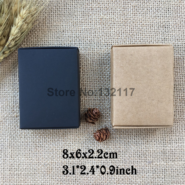 50PCS 8x6x2.2cm Kraft Paper Box Gift Box Wedding Candy Box Wedding Gifts for Guest Party Supplies Embalagem Caxia Soap Packing