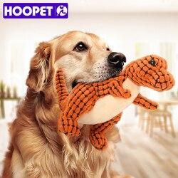 Hoopet cachorro brinquedo som teddy filhotes resistentes a morder molar brinquedos interativos do animal de estimação