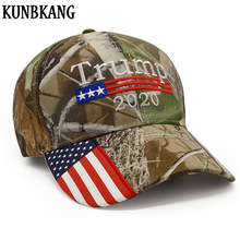 Neue Donald Trump 2020 Kappe Camouflage USA Flagge Baseball Caps Halten Amerika Große Snapback Hut Stickerei Stern Brief Camo Armee kappe(China)