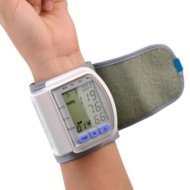 LCD Digital Upper Arm Wrist Blood Pressure Pulse Monitors Tonometer Health Care Blood Pressure Meter Tester Sphygmomanometer