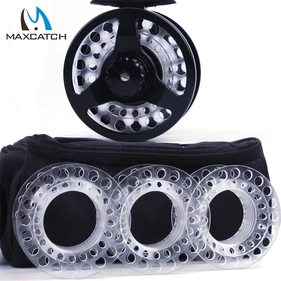 Maximumcatch Fly Reel Combo Cassette Fly Fishing Reel With 3 Extra Cassette Spools ad822brz reel