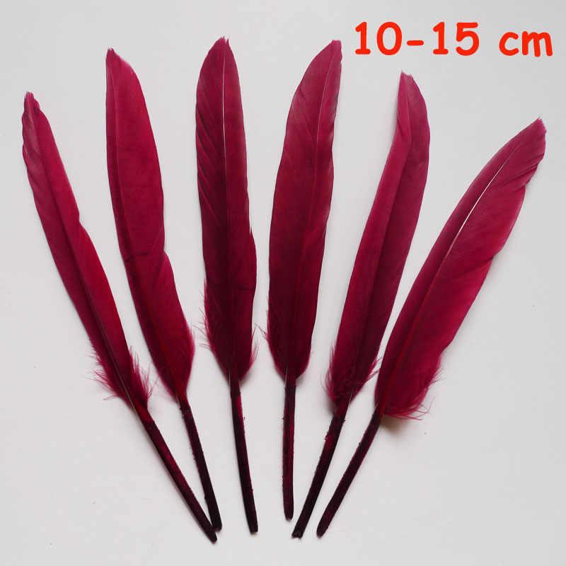 20 pièces 11 sortes marron vin rouge faisan queue de poulet plumes d'oie coq Plume pour fête bricolage artisanat décoration autruche Plume