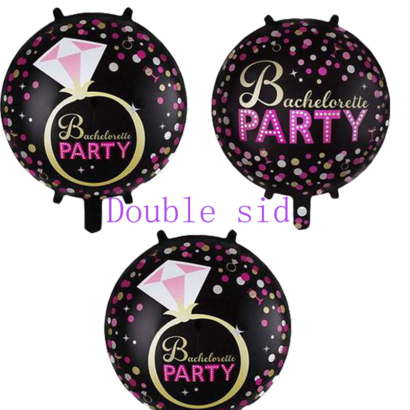 Bachelorette party supplies Foil Balloons 18inch 10pcs helium black Balloon For Lady Miss Party Decorations kids gifts Globos