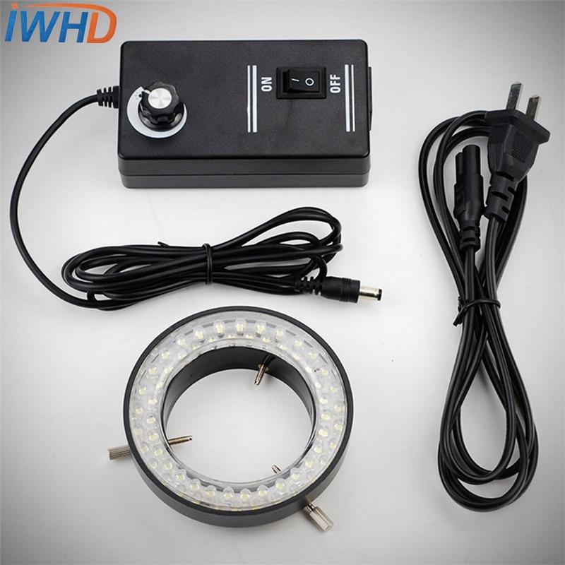 LED-60 ไฟวงแหวน LED กล้องจุลทรรศน์แสงไฟ LED สีฟ้าปรับความสว่างของรู 60 มม. พิเศษแหล่งกำเนิดแสงส่องสว่างเลนส์