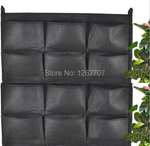 12 карманов Новый Фетр 1 шт. открытый Вертикальное Озеленение цветочные горшки и кашпо, висит горшки плантатор на стене зеленого поля 66*80 см
