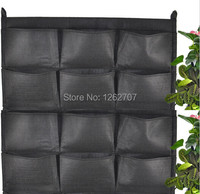 12 pockets new felt 1pc outdoor vertical gardening flower pots and planter hanging pots planter on.jpg 200x200
