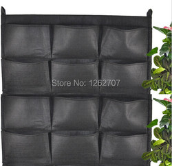 12 pockets new felt 1pc outdoor vertical gardening flower pots and planter hanging pots planter on.jpg 250x250