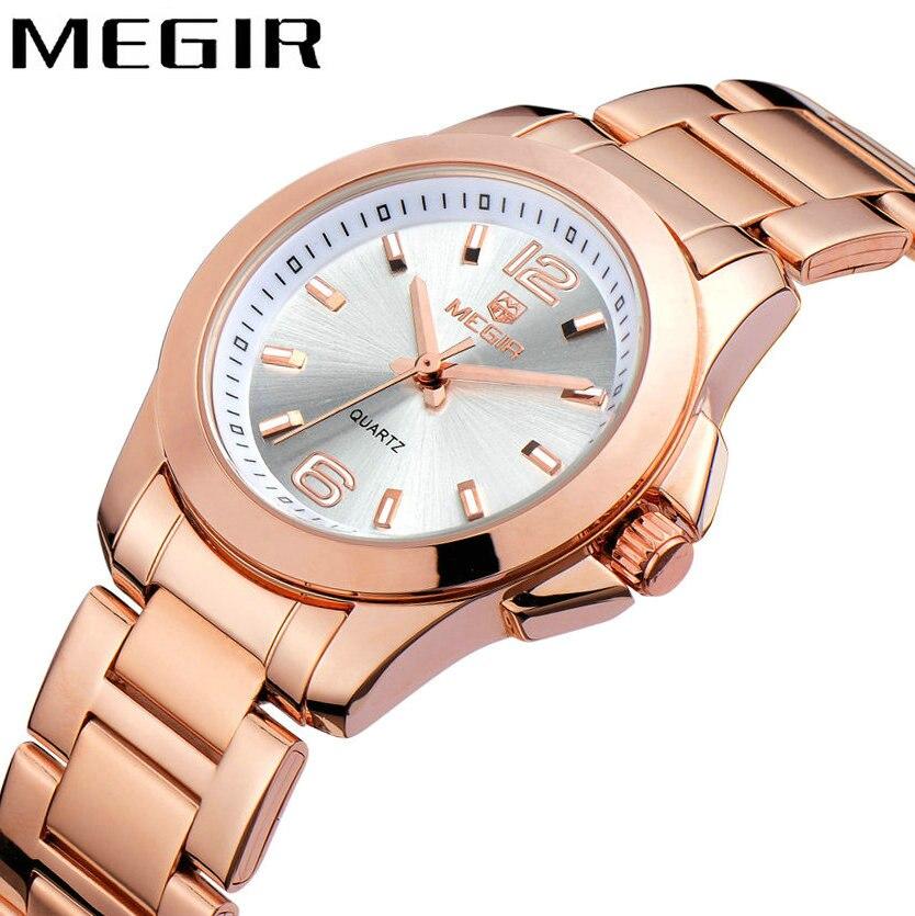 01342ae3f21 Mulheres Relógios megir elegante top marca de Formato do Estojo   Redondo