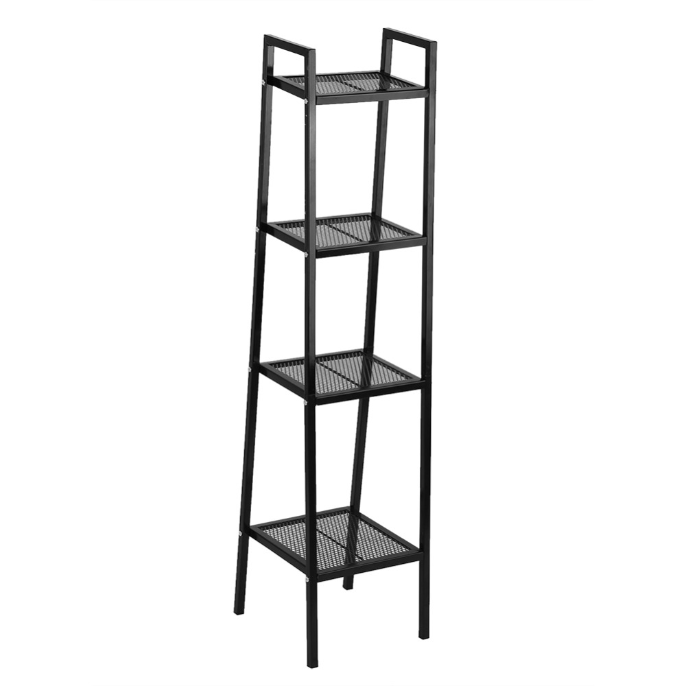 Home 35*35*145cm Ladder Shape 4 Tier Design Shelf Unit Bookshelf Bookcase Book Storage Display Rack Stand