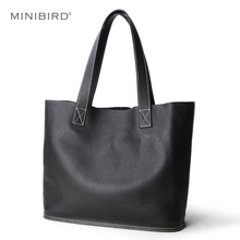 High Quality Women Luxury Genuine Leather Handbag Lady Simple Fashion Casual Shopping Bag Large Capacity Cowhide Shoulder Bags