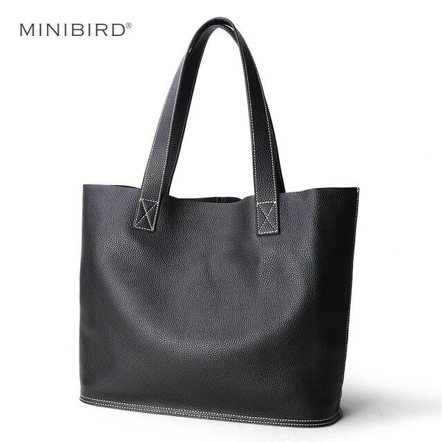 Sac à main en cuir véritable pour femmes, sac bonne qualité de luxe, sac de Shopping Simple pour dames, sacs épaule en cuir de vache de grande capacité décontracté