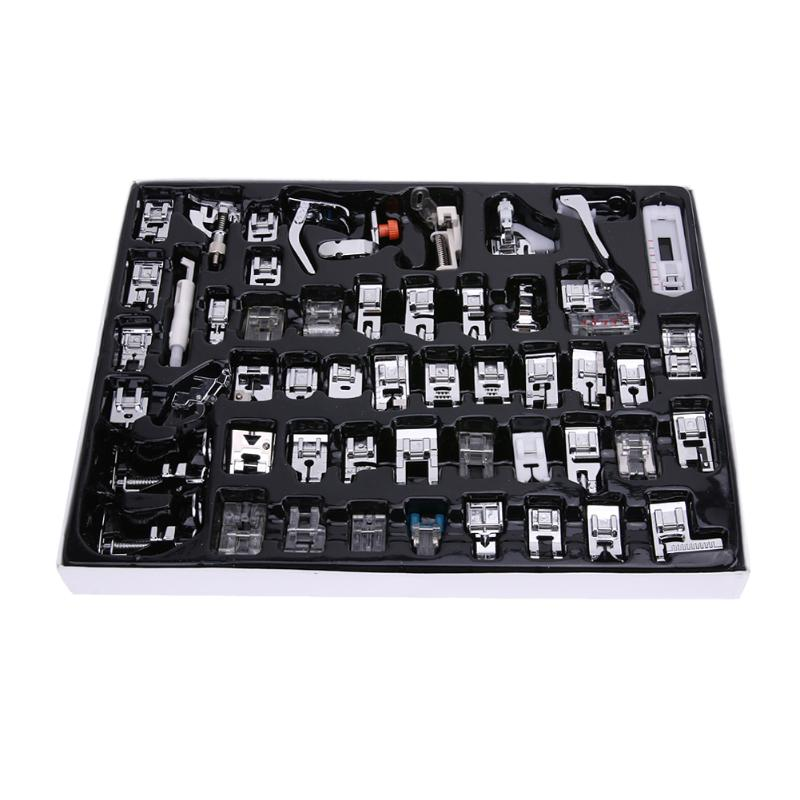 52 Pcs Sewing Machine Foot Domestic Industrial Sewing Machine Presser Foot Set Feet Kit Sewing Machine Accessories 11 pcs multi function presser foot feet domestic household sewing machine braiding blind stitch couture outillage tool parts