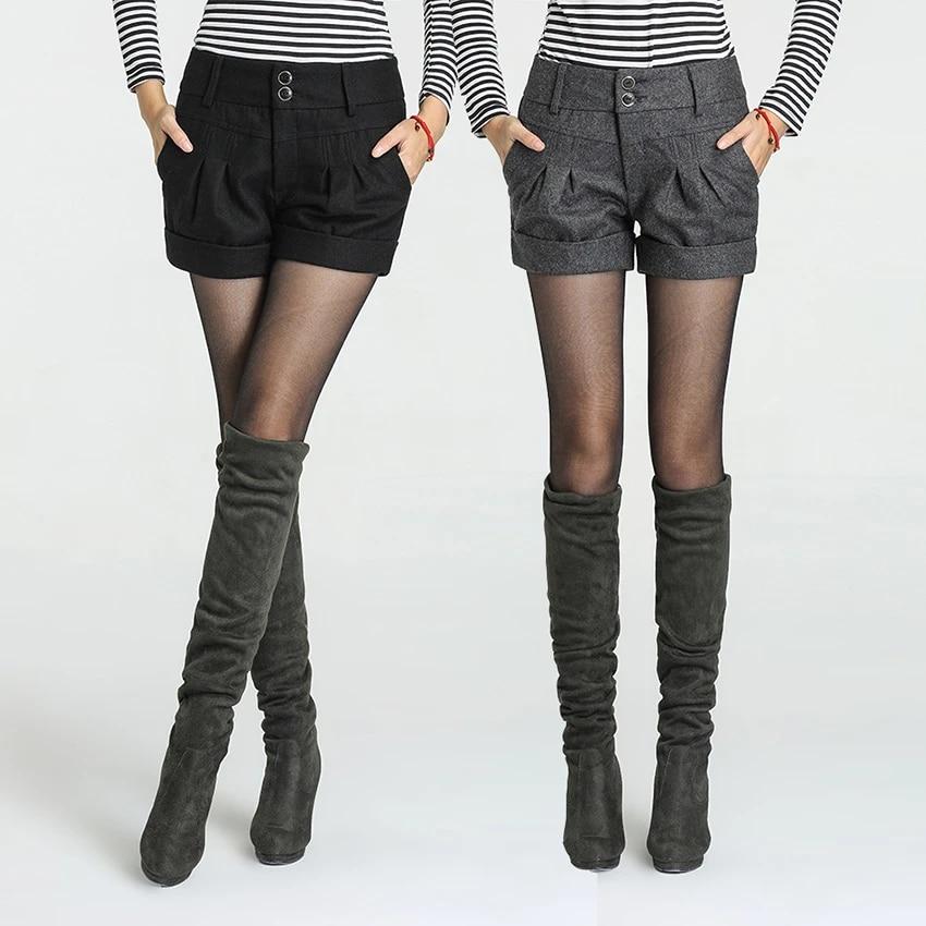 Pantalones Cortos De Invierno Y Otono Para Mujer A La Moda De Cintura Media De Lana Elegantes Novedad Envio Gratis Shorts Socks Boots For Kids On Saleboot Hiking Aliexpress