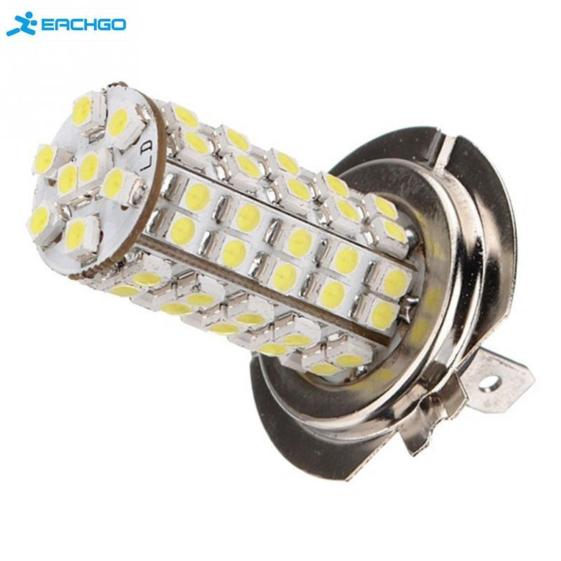 White 12V 68 SMD Car H7 6000K LED Bulb Head Light Fog Daytime Lamp Vehicle new super bright h7 5630 smd 33 led 12v white auto car fog driving light lamp bulb car accessories