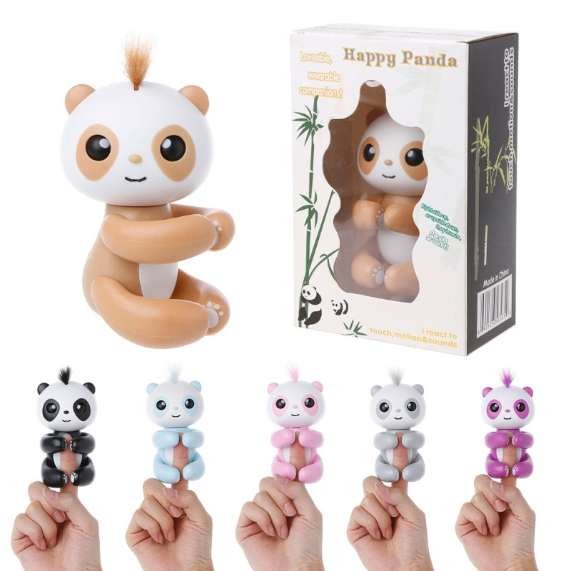 New Spot Smart Electronic Finger Monkey Colorful Fingertip Panda Pet Interactive Baby Pet Toys For Boys Toy Store