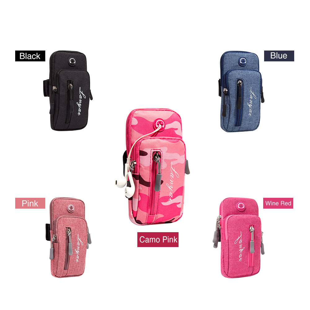 Running Men Women Arm Bags For Phone Money Keys Outdoor Sports Arm Package Bag With Headset Hole