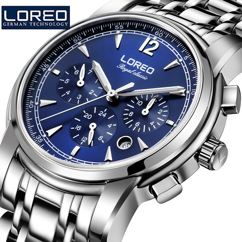 LOREO Men Automatic Watches Mechanical WristWatch Relogios Masculino Male Stainless Steel Strap Uhren Relogio Masculino J99 new binkada men s automatic mechanical watches black dial stainless steel strap hand wind male wristwatch relogio masculino