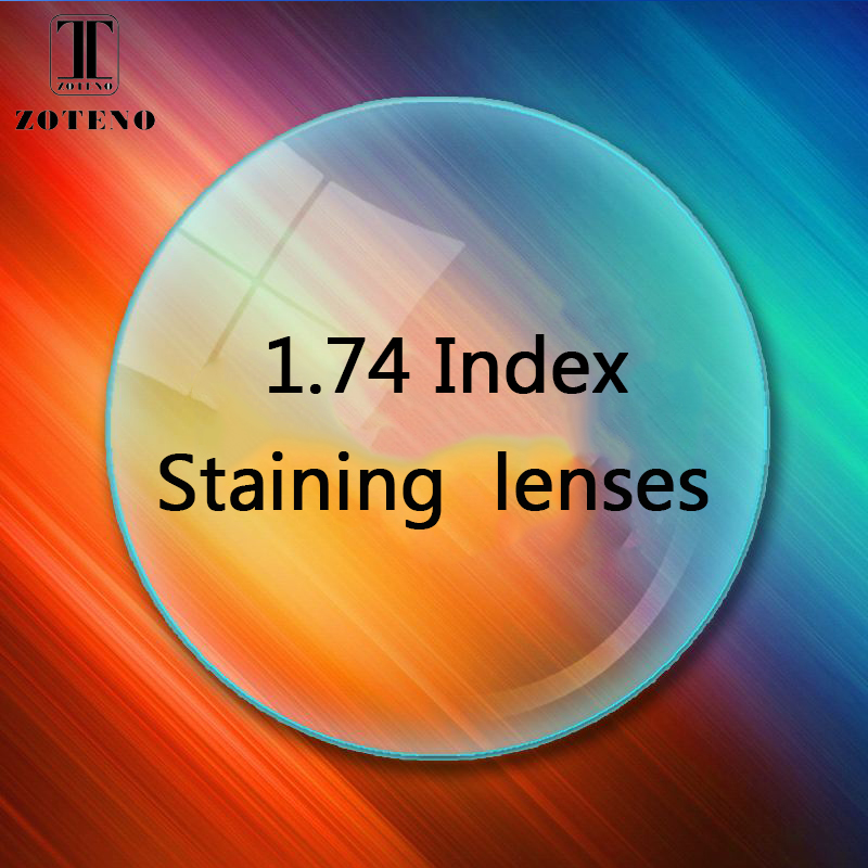 Lentilles de coloration d'index 1.74 lentilles optiques de presbytie lentilles de verres multifocaux lentilles de presbytie d'hyperopie de myopie