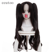 ccutoo 80cm Dark Brown Tohsaka Rin Cosplay Wig Fate/stay night Synthetic Hair With 2*Chip Ponytails Heat Resistance Fiber