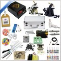 Professional Complete Tattoo Machine Kit Include  DC LCD Tattoo Power Supply and Tattoo needle