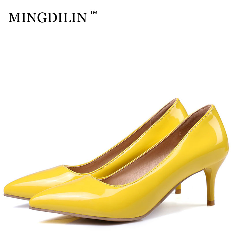 MINGDILIN Women's High Heels Shoes Woman Stiletto Wedding Shoes Zapatos Mujer Tacon Pumps Women High Heels Ladies Shoes Ayakkab цены онлайн