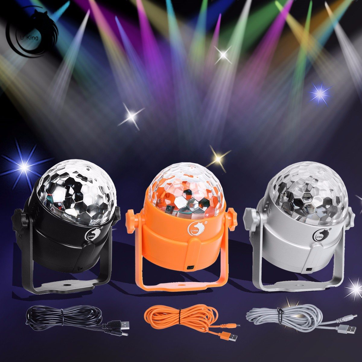 Automatic LED Magic Stage Light Crystal Ball Sound Control Night Lamp Hanging DJ Club Pub Bar Disco Wedding Party Show Lighting mini rgb led party disco club dj light crystal magic ball effect stage lighting